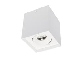 Plafondspot BC0063W led, 1-lichts mat wit