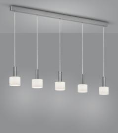 Hanglamp Gain, 5-lichts nikkel