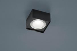 Plafondlamp Kari led, vierkant zwart