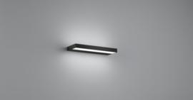 Wandlamp Slate led,  mat zwart met acryl glas 30 cm