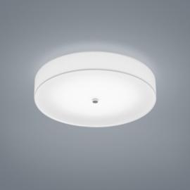 Plafondlamp Bora led,  witte stoffen kap 45 cm