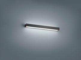 Wandlamp Theia led, mat zwart met acryl glas 60 cm