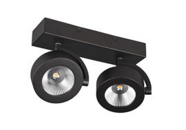 Plafondspot  BC0032B led, 2-lichts mat zwart
