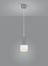 Hanglamp Gain, 1-lichts nikkel