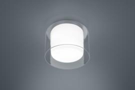 Plafondlamp Olvi led,  chroom wit glas