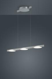 Hanglamp Pole led, 3-lichts nikkel