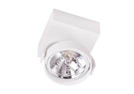 Plafondspot  QR0001-04 led, 1-lichts mat wit incl led