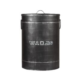 Wasmand L 40x40x58 cm  zwart