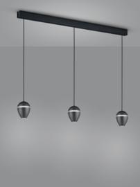 Hanglamp Redo led, 3-lichts zwart