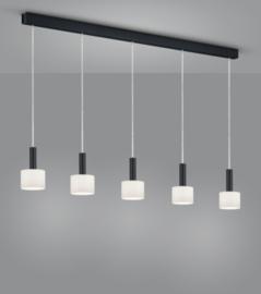 Hanglamp Gain, 5-lichts zwart