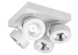 Plafondspot  BC0034W led, 4-lichts mat wit