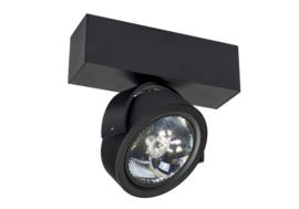 Plafondspot  QR0011B led, 1-lichts mat zwart incl led
