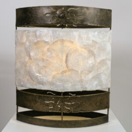 Tafellamp Ovaal, parlemour wit 30 cm