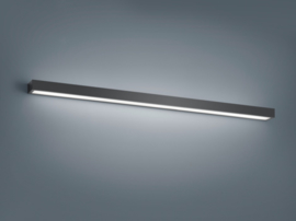 Wandlamp Theia led, mat zwart met acryl glas 120 cm