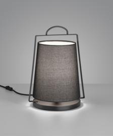 Tafellamp Uka, zwart met kap antraciet
