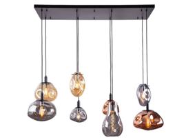 Hanglamp Shirly, 8-lichts met glas