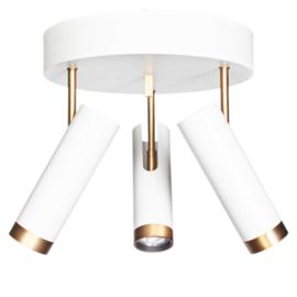 Plafondspot  Puls Spotlight, wit-goud incl led bron