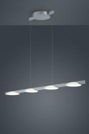 Hanglamp Pole led, 4-lichts nikkel