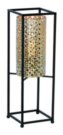 Tafellamp Petrolio, zwart-goud 47 cm
