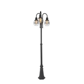 Buiten vloerlamp Guardado, 3-lichts zwart