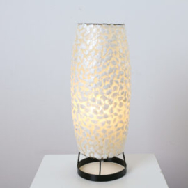 Tafellamp Kijkduin sigaar, wit 30 cm