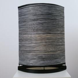 Tafellamp Deurne, parlemour wit-zwart 40 cm