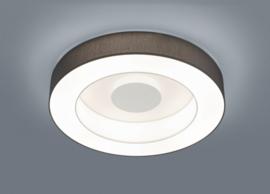 Plafondlamp Lomo led,  antraciet stoffen kap 65 cm