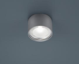 Plafondlamp Kari led, rond mat nikkel
