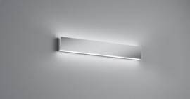 Wandlamp Vis led, chroom met acryl glas 60 cm