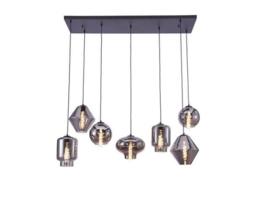 Hanglamp Brady, 7-lichts met glas