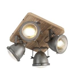 Plafondspot  Emado, 4-lichts staal incl. licht bron