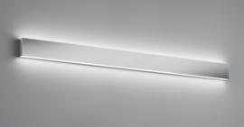 Wandlamp Vis led, chroom met acryl glas 120 cm