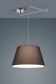 Hanglamp Certo chroom met stoffen kap antraciet