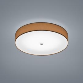 Plafondlamp Bora led,  mokka stoffen kap 45 cm