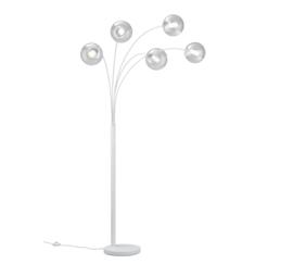 Vloerlamp Balini, wit met helder glas