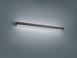 Wandlamp Theia led, mat zwart met acryl glas 90 cm