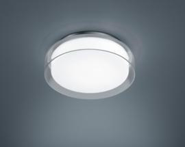 Plafondlamp Olvi led,  chroom wit glas 30 cm