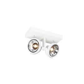 Plafondspot  Master 111, 2-lichts wit incl. licht bron