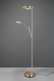 Vloerlamp Barrie led, 2-lichts mat messing