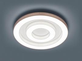 Plafondlamp Lomo S led,  mokka - witte stoffen kap 68 cm