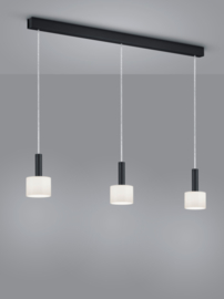 Hanglamp Gain, 3-lichts zwart
