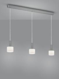 Hanglamp Gain, 3-lichts nikkel