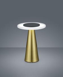 Tafellamp Bax led, mat messing-zwart