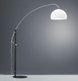 Vloerlamp Doro, mat zwart met chroom