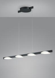 Hanglamp Pole led, 4-lichts zwart