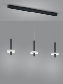 Hanglamp Kea led, 3-lichts zwart