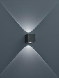 Wandlamp Peka led, graphit klein