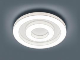 Plafondlamp Lomo S led,  witte stoffen kap 68 cm