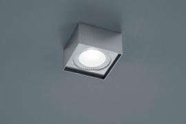 Plafondlamp Kari led, vierkant mat nikkel