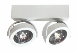 Plafondspot  QR0002-04 led, 2-lichts mat wit incl led